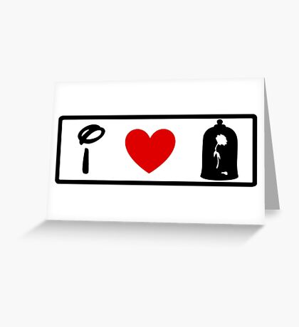 I Heart Beauty and The Beast (Classic Logo) Greeting Card