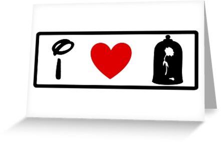 I Heart Beauty and The Beast (Classic Logo) by ShopGirl91706