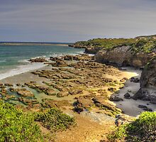 Rock Pools Caves Beach by Terry Everson