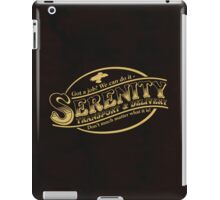 Serenity Transport & Delivery Service iPad Case/Skin