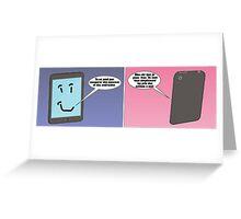 dessin comique de apple et android Greeting Card