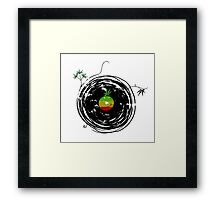Reggae Music Peace - Vinyl Records Weed Pot - Cool Retro Music DJ T-Shirt Framed Print