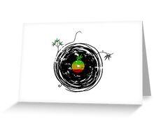 Reggae Music Peace - Vinyl Records Weed Pot - Cool Retro Music DJ T-Shirt Greeting Card