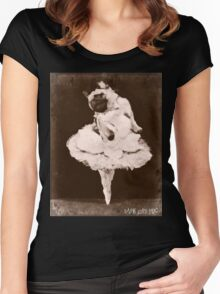 pug dance Women's Fitted Scoop T-Shirt