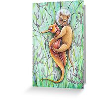 seahorse catfish  Greeting Card
