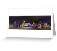 Doma square panorama at night, Riga, Latvia in Christmas Greeting Card