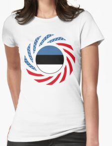 Estonian American Multinational Patriot Flag Series Womens Fitted T-Shirt