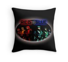 Red Vs Blue Throw Pillow