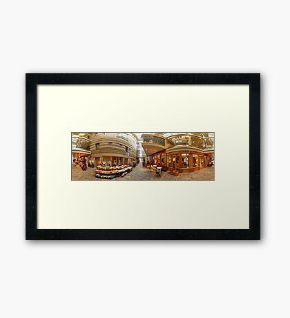 THE OLDEST STREET OF RIGA UNDER  RIGA CITY COUNCIL. Framed Print