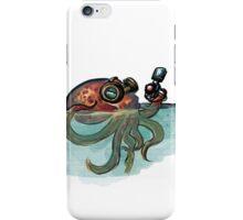 Octopod with laser gun iPhone Case/Skin