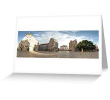 St. Peter's Church panorama, Riga, Latvia Greeting Card