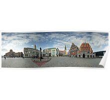 BLACKHEADS HOUSE PANORAMA, RIGA, LATVIA Poster