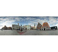 BLACKHEADS HOUSE PANORAMA, RIGA, LATVIA Photographic Print