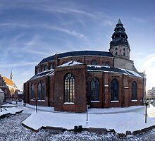 Doma square panorama, Riga, Latvia by paulsrphoto