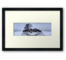 Jurmala Baltic Beach hotel in Ice panorama, Riga Latvia Framed Print