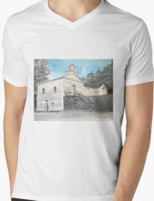 Webster NH Town Hall Mens V-Neck T-Shirt