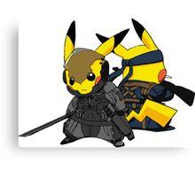 Pikachu Gear Solid Canvas Print