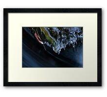 Ice Sculptures Over Rushing Water Framed Print
