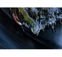 Ice Sculptures Over Rushing Water Photographic Print