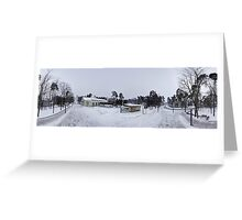 In the middle of the street pano, Riga, Latvia Greeting Card