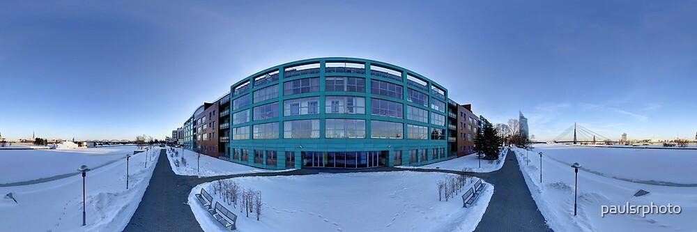 Business apartment house panorama, Riga , Latvia. by paulsrphoto