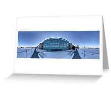 Business apartment house panorama, Riga , Latvia. Greeting Card