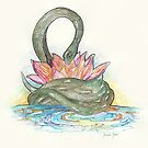 Snake and Lotus by JasmineJean