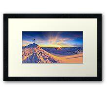 Beautiful view - Mölltaler Gletscher 3122 m in the Alps Framed Print