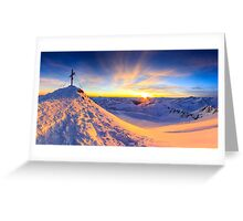 Beautiful view - Mölltaler Gletscher 3122 m in the Alps Greeting Card