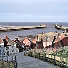 Harbour View. Whitby. by Lilian Marshall