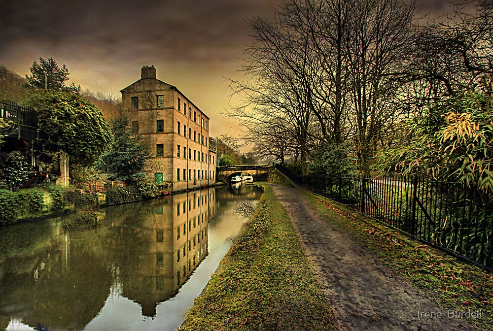 Winter along the Rochdale Canal  by Irene  Burdell
