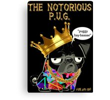 notorious pug Canvas Print