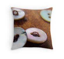 149/365 saving buttons Throw Pillow