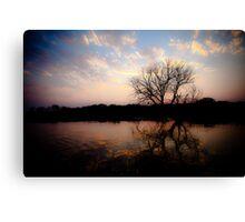 Sunset on the Okavango River Canvas Print
