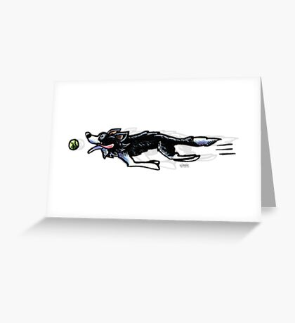 Border Collie in Action Greeting Card