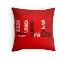 Bully - Typography poster Throw Pillow