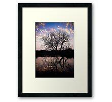 Sunset on the Okavango River Tree Framed Print