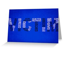 Victim - Typography poster Greeting Card