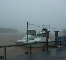 Monsoonal Rains ~ Johnstone River, Innisfail, Qld. by Kerryn Madsen-Pietsch