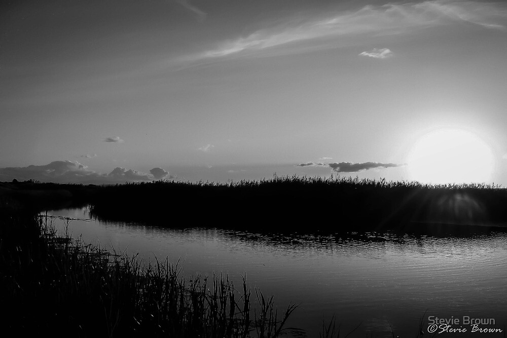 Sunset at Presthaven B&W by Stevie B
