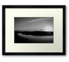Sunset at Presthaven B&W Framed Print