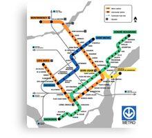 STM Montreal Metro - dark Canvas Print