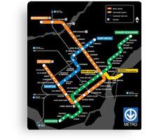 STM Montreal Metro Canvas Print