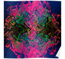 Mazes in Pink Poster