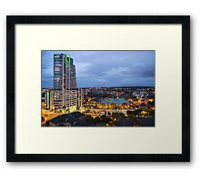 Leeds from the Sky Lounge Framed Print