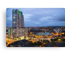 Leeds from the Sky Lounge Canvas Print