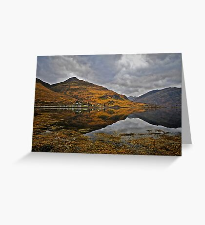 Loch Duich, West Coast of Scotland. Greeting Card