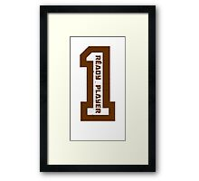 Ready Player One Number Brown Framed Print