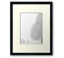 Winter Falls Hard Upon Us Framed Print