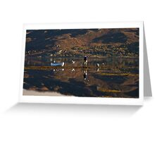 Low Tide on Loch Carron, Scotland. Greeting Card